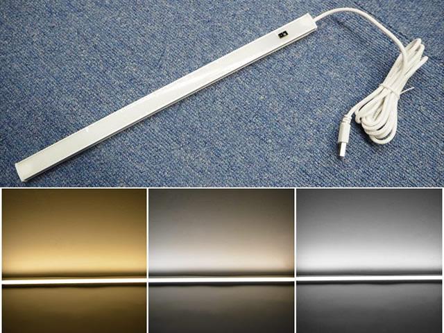 DC5V USB専用 4W ハンドウェーブセンサー付き LEDバーライト 30cm※3カラーの写真です。