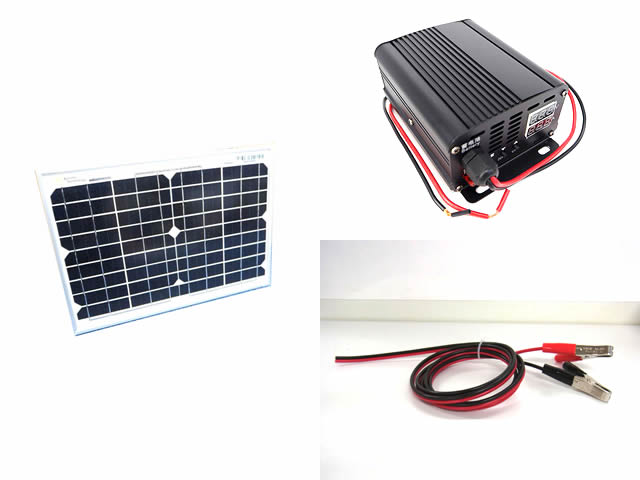 24V/48V/60V/72Vバッテリー 補充電用 10Wパネル+MPPTチャージコントローラー SC330(10A)セット