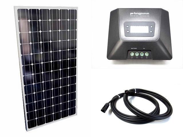 ソーラーパネル200W×9枚(1,800Wシステム:48V仕様)+Fangpusun MPPT150/45D(45A)の写真です。