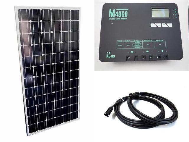 ソーラーパネル200W×9枚(1,800Wシステム:48V仕様)+M4860(60A)の写真です。