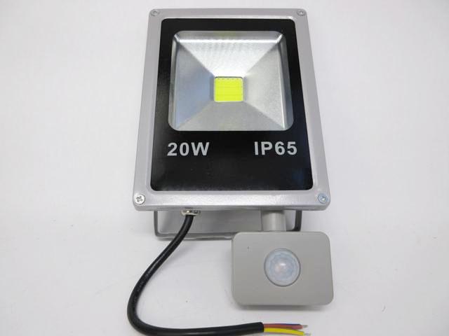 AC90V〜240V用 20W モーションセンサー付き 防水LEDライト ※Whiteの写真です。