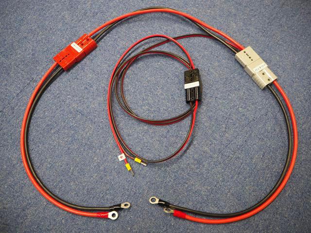 初心者向け ソーラー蓄電システム接続ケーブルセット(KIV22SQ:VFF5.5SQ)の写真です。