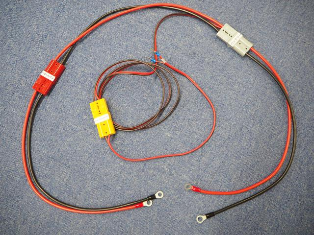 初心者向け ソーラー蓄電システム接続ケーブルセット(KIV5.5SQ:VFF2.0SQ)※50W〜200Wフルセット用の写真です。