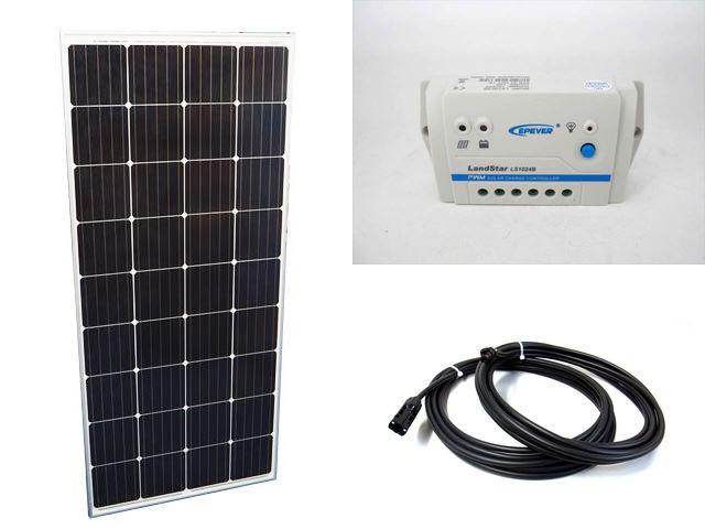 ソーラーパネル160W+LS1024B(10A)の写真です。