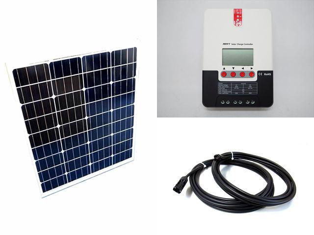 ソーラーパネル80W×2枚 (160Wシステム)+SR-ML2420(20A)の写真です。
