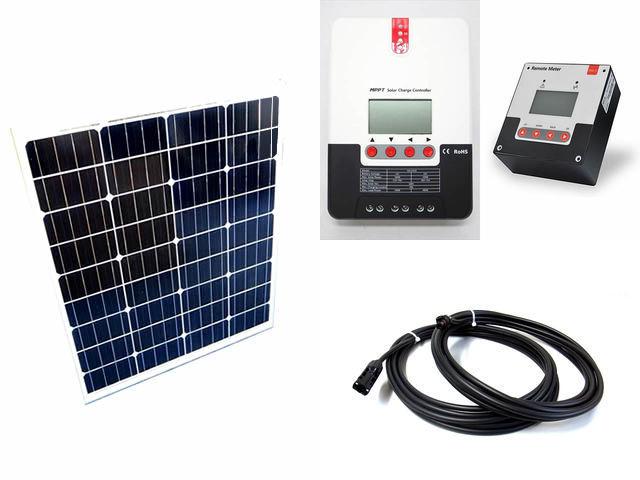 ソーラーパネル80W×2枚 (160Wシステム)+SR-ML2420(20A)+ SR-RM-5の写真です。