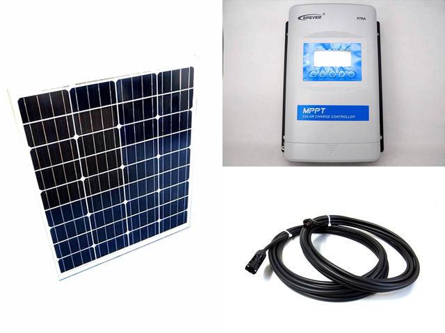 ソーラーパネル80W×2枚 (160Wシステム)+XTRA3415N-XDS2(30A)の写真です。