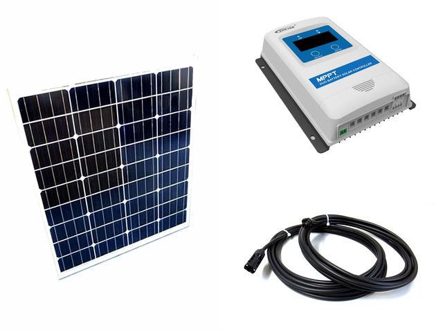 ソーラーパネル80W×2枚 (160W)+DuoRacer DR2210N-DDS(20A)の写真です。