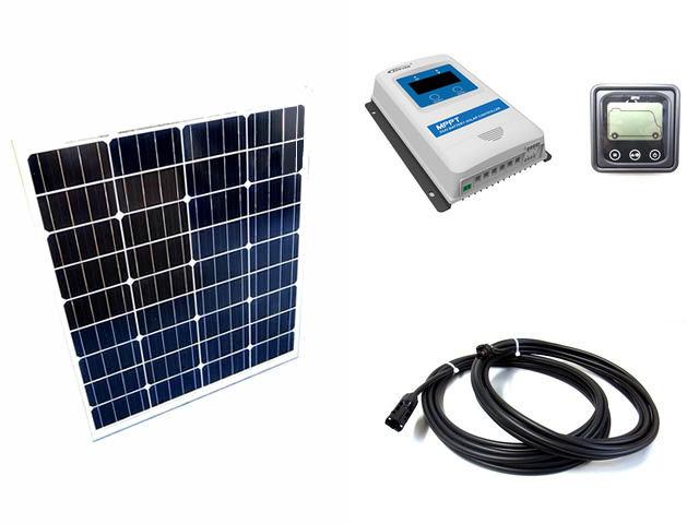 ソーラーパネル80W×2枚 (160W)+DuoRacer DR2210N-DDS(20A)+MT11の写真です。