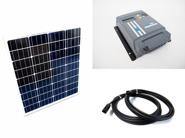 ソーラーパネル80W×2枚 (160W)+MPPT120D-WIFIの写真です。