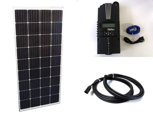 ソーラーパネル160W×20枚(3,200W)+Classic 200-SL(MidNite Solar製:アメリカ)の写真です。