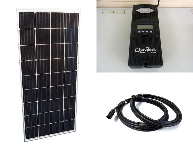 ソーラーパネル160W×20枚(3,200W)+OutBack Power FlexMax60(60A)の写真です。