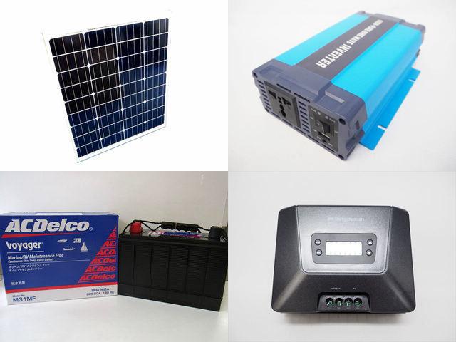 80W×3枚(240W)太陽光発電システム HL-600P Fangpusun MPPT100/30Dの写真です。