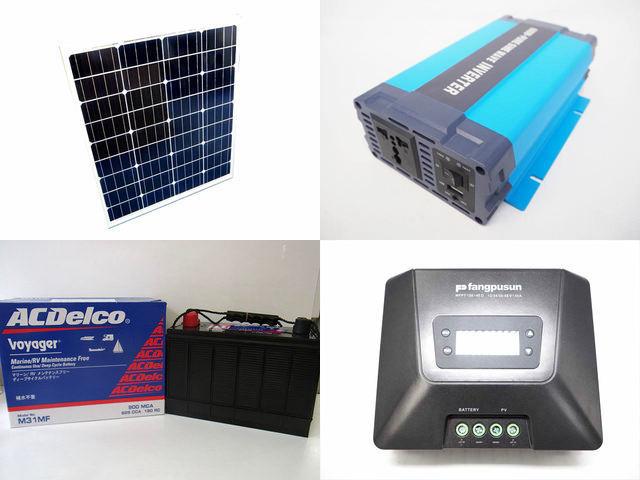 80W×3枚(240W)太陽光発電システム HL-600P Fangpusun MPPT150/45Dの写真です。