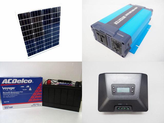 80W×3枚(240W)太陽光発電システム HL-600P Fangpusun MPPT100/50Dの写真です。