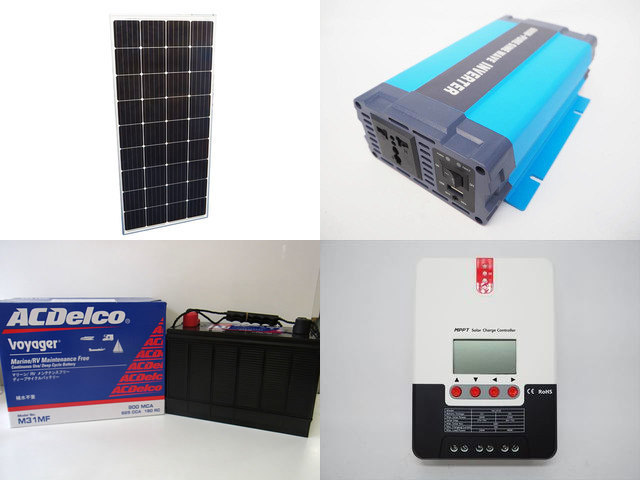 160W×3枚(480W)太陽光発電システム(24V仕様) HL-600P SR-ML2420の写真です。