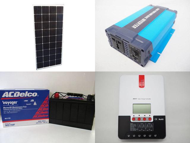 160W×3枚(480W)太陽光発電システム(24V仕様) HL-600P SR-ML2430の写真です。