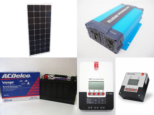 160W×3枚(480W) 太陽光発電システム(24V仕様) HL-600P SR-ML2420+SR-RM-5の写真です。