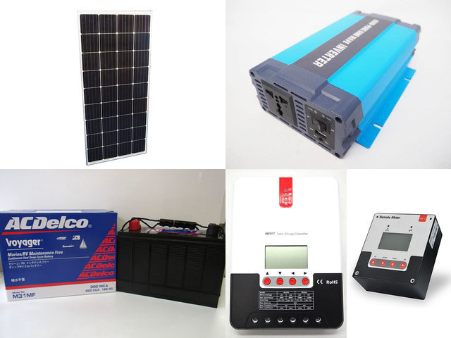 160W×3枚(480W) 太陽光発電システム(24V仕様) HL-600P SR-ML2430+SR-RM-5の写真です。