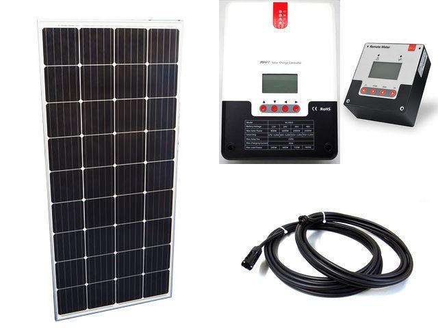 ソーラーパネル160W×20枚(3,200Wシステム:48V仕様)+SR-ML4860(60A)+ SR-RM-5の写真です。