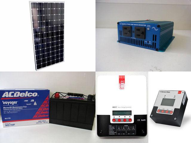 200W 太陽光発電システム(24V仕様) SK200 SR-ML4830+SR-RM-5の写真です。