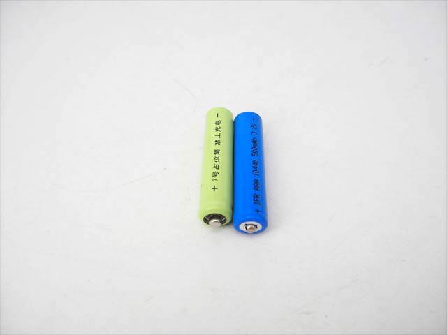 リン酸鉄リチウムイオン電池 10440(3.2V:500mAh)+ダミー電池セット 商品写真