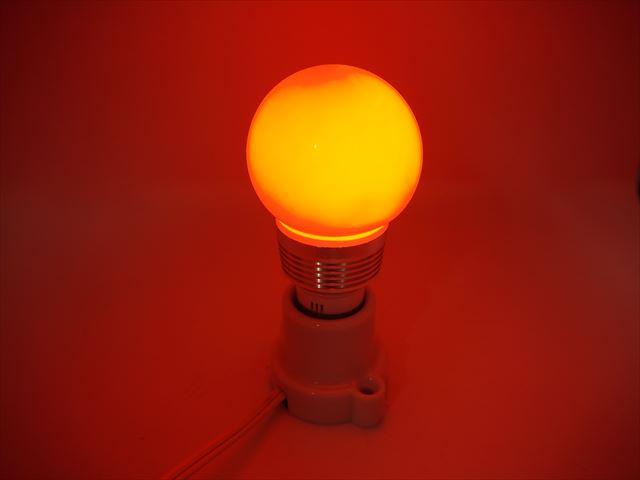 AC85〜265V用 3W RGBカラーバルブライト ※リモートコントローラー付 商品写真